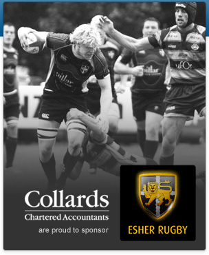 Collards Chartered Accountants are proud to sponsor Esher Rugby